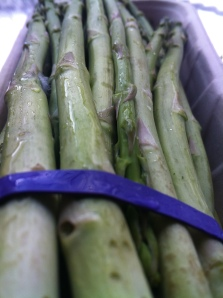 Fresh asparagus from Trader Joe's.